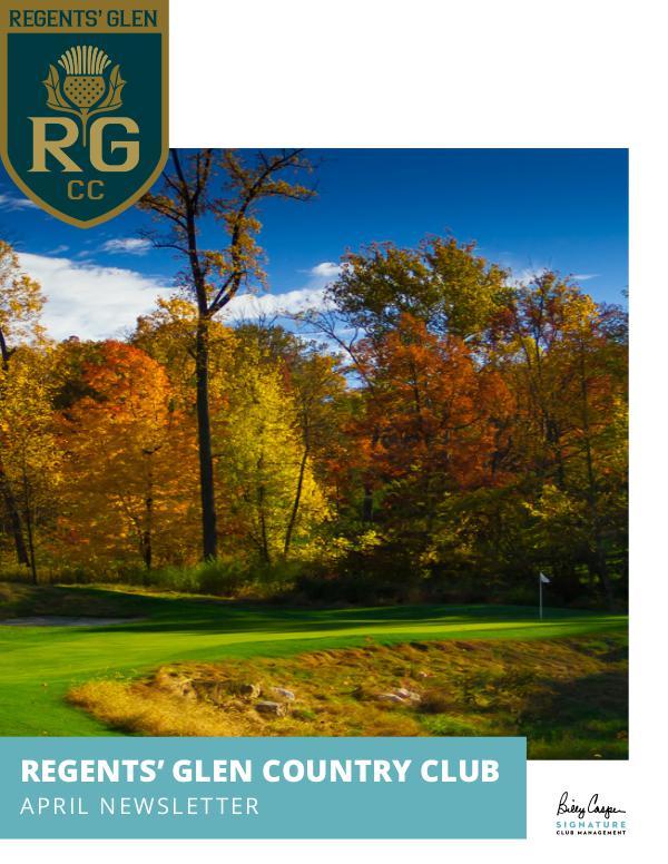 Regents' Glen Monthly Newsletter 1