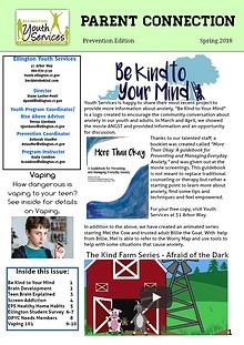 Ellington Youth Services Prevention Newsletter