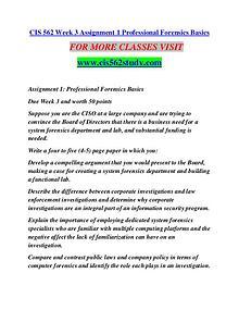 CIS 562 STUDY Extraordinary Life/cis562study.com