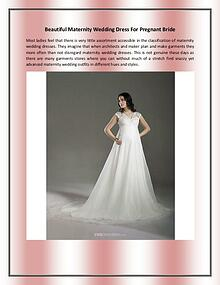 Beautiful Maternity Wedding Dress For Pregnant Bride