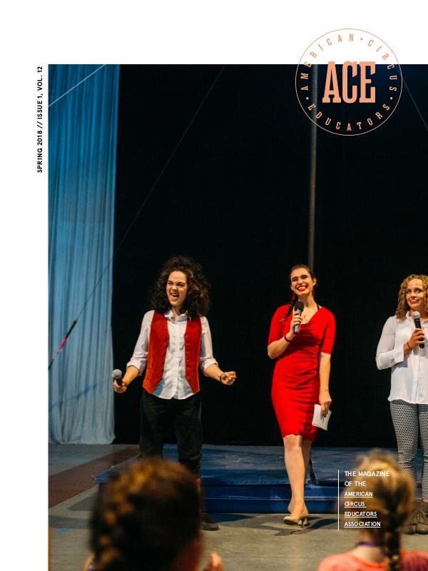 American Circus Educators Magazine Spring 2018 (Issue 1, Volume 12)