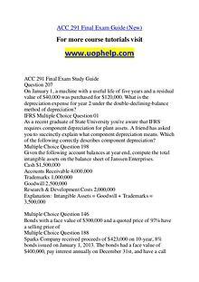 ACC 291 New Dreams Come True /uophelp.com