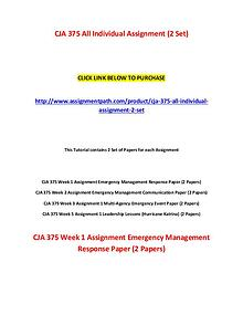 CJA 375 Assignments