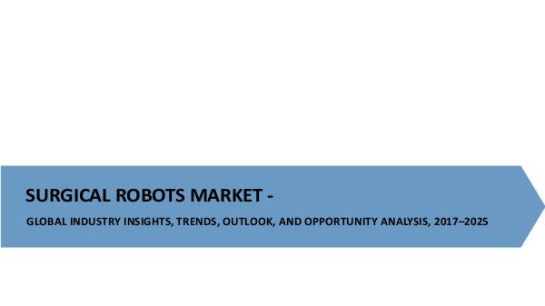 Medical Devices Research Reports Surgical Robots Market
