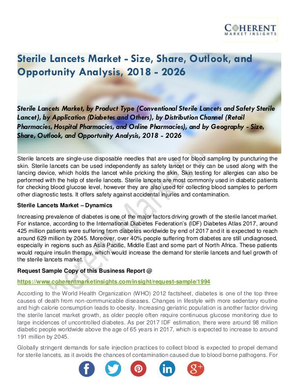 Medical Devices Research Reports Sterile Lancets Market