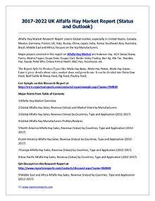 2017-2022 Global Top Countries Alfalfa Hay Market Report