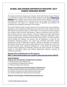 Daptomycin Market 2012-2022 Analysis, Trends and Forecasts
