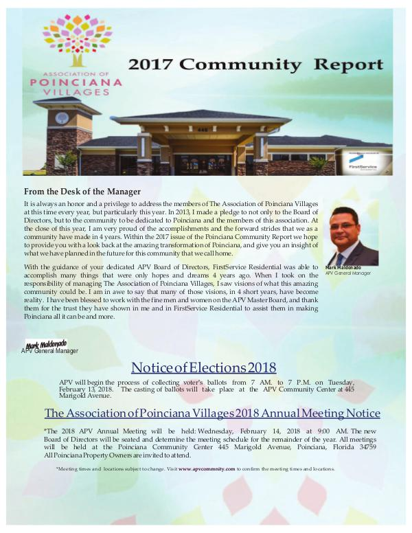 2017 COMMUNITY REPORT Final Poinciana Proof