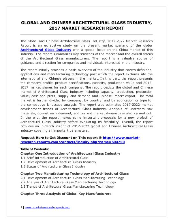 Architectural Glass Market 2012-2022 Analysis, Trends and Forecasts Architectural Glass Market 2012-2022 Analysis, Tre