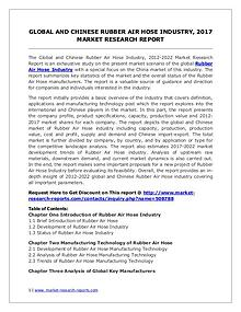 Rubber Air Hose Market Global and Chinese Analysis for 2012-2022