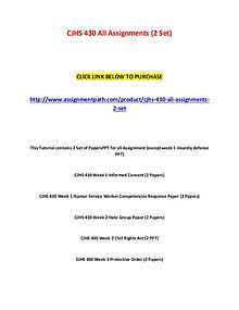 Cjhs 430 all assignments (2 set)