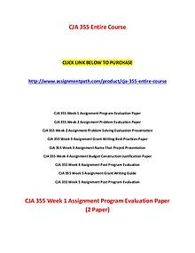 CJA 355 Assignments