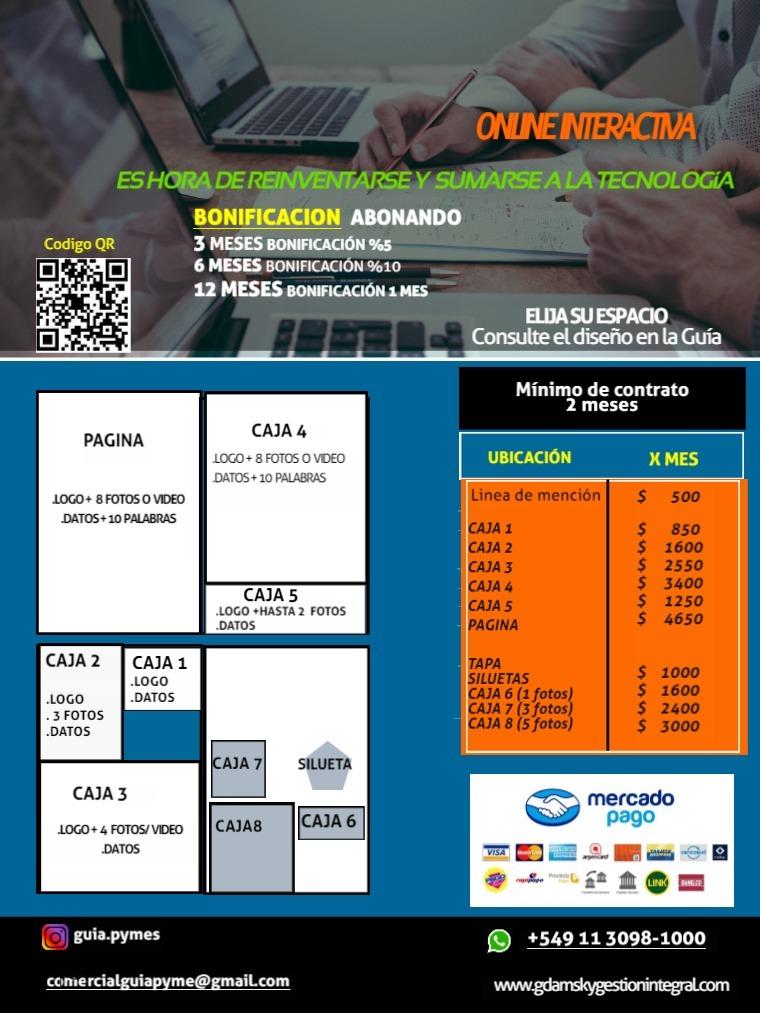 GUÍA PYME y SERVICIOS Online Interactivo 01/2020
