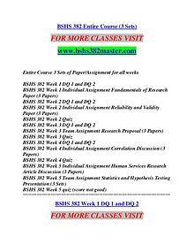 BSHS 382 MASTER It's Your Life/bshs382master.com