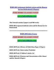 BSHS 408 EDU It's Your Life/bshs408edu.com