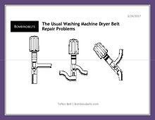 The Usual Washing Machine Dryer Belt Repair Problems