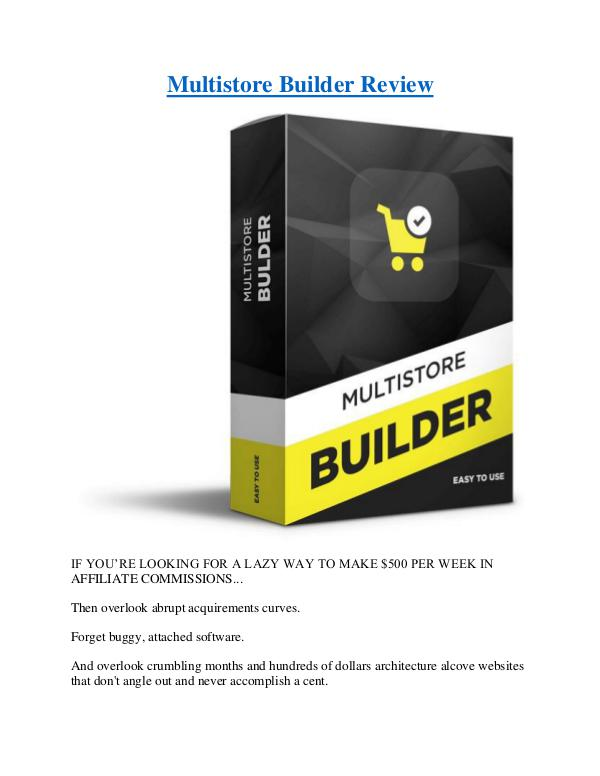 Multistore Builder Review Multistore Builder Review
