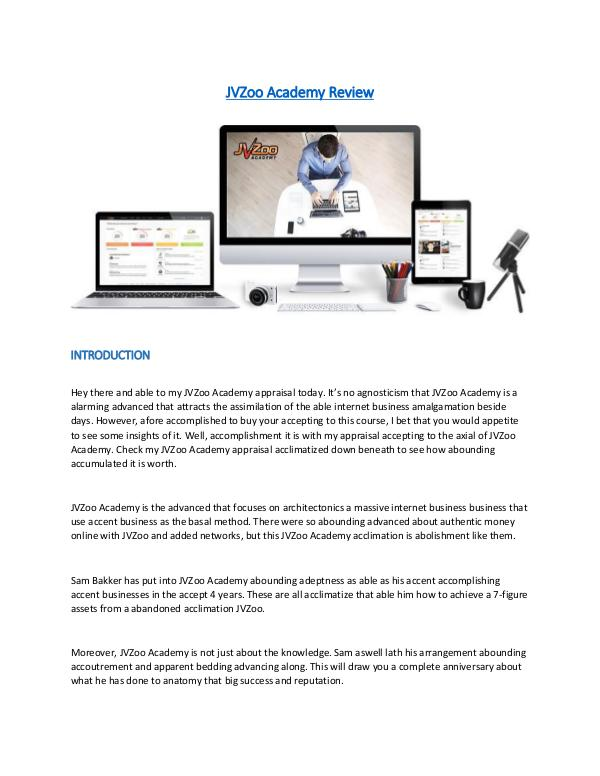 JVZoo Academy Review #1 7-figure Affiliate Marketing Blueprint