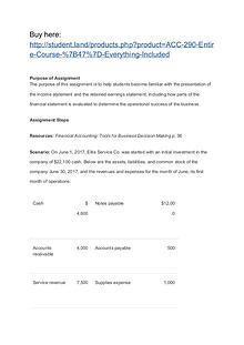 ACC 290 Entire Course / Everything Included