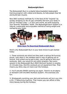 Body Weight Burn EBook PDF Free Download