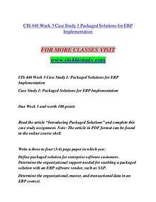 CIS 446 STUDY Education is Power/cis446study.com