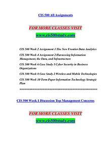 CIS 500 STUDY Education is Power/cis500study.com