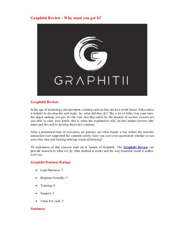 Graphitii Review - Demo Bonuses Free