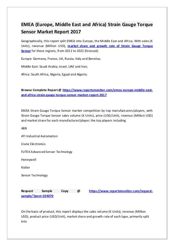 Strain Gauge Torque Sensor Market Research Report
