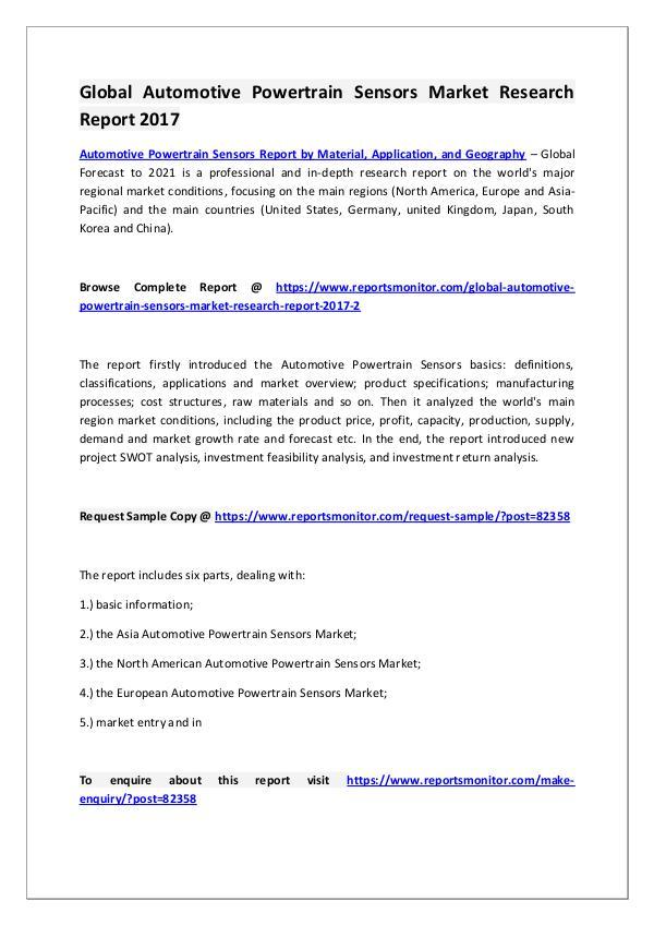 Automotive Powertrain Sensors Market Research