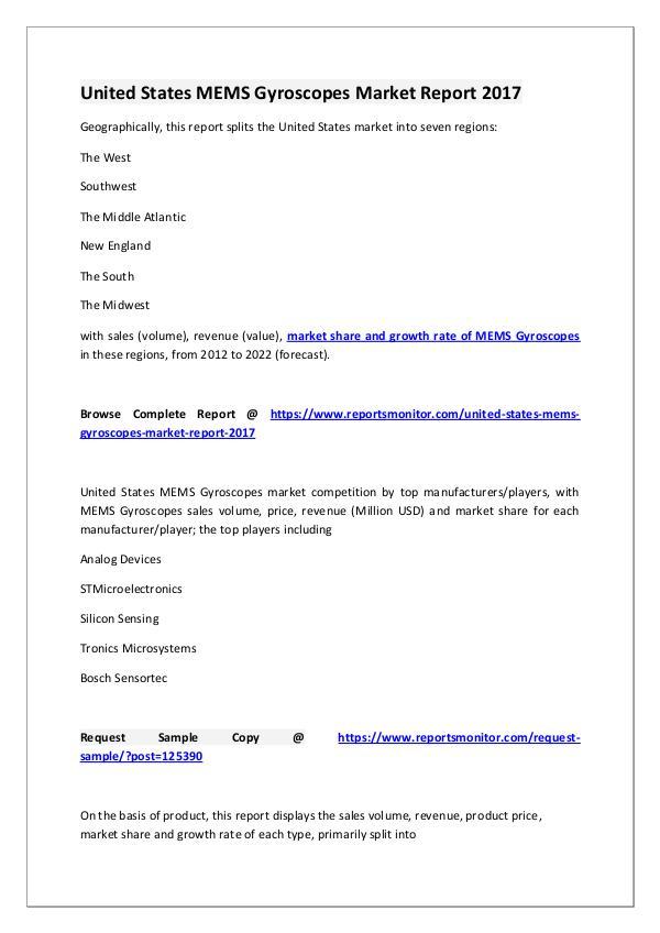 MEMS Gyroscopes Market Research Report