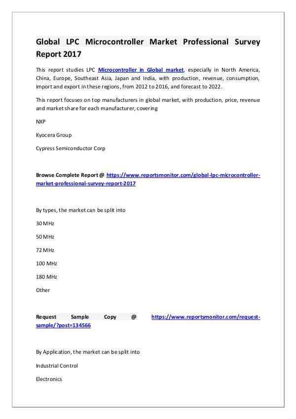 LPC Microcontroller Market Research Report