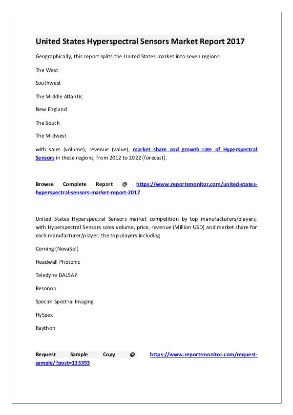 Hyperspectral Sensors Market Research Report