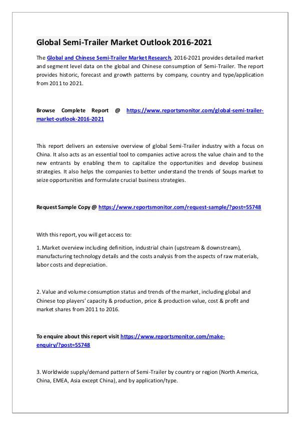 Reports Monitor Semi-Trailer Market Research Report