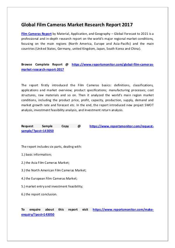 Film Cameras Market Research Report