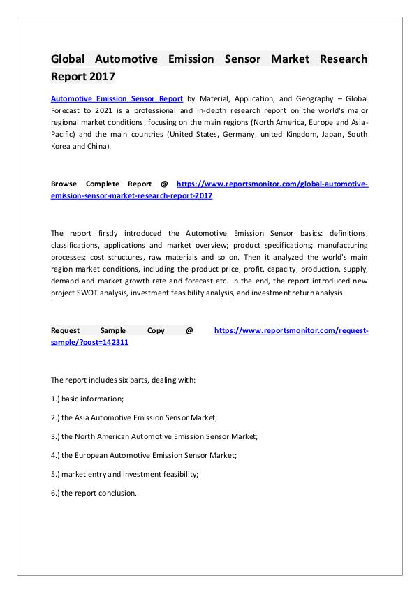 Automotive Emission Sensor Market Research Report