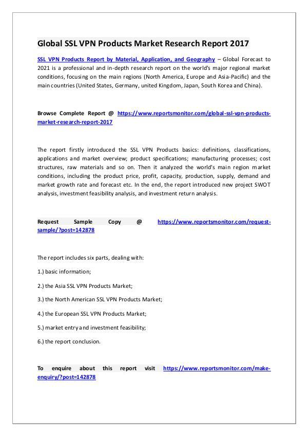 SSL VPN Products Market Research Report