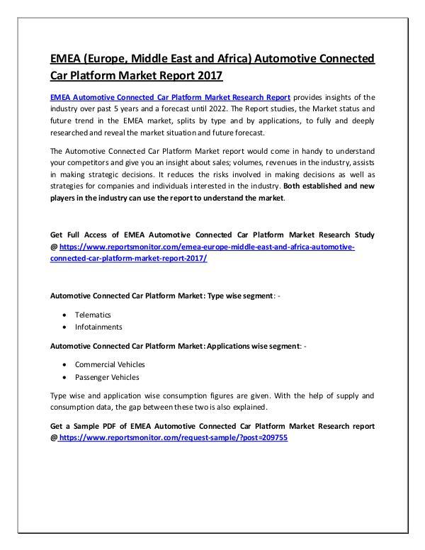 Automotive Connected Car Platform Market Report