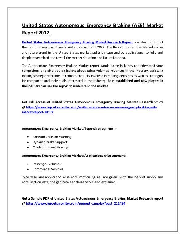 Autonomous Emergency Braking Market Report