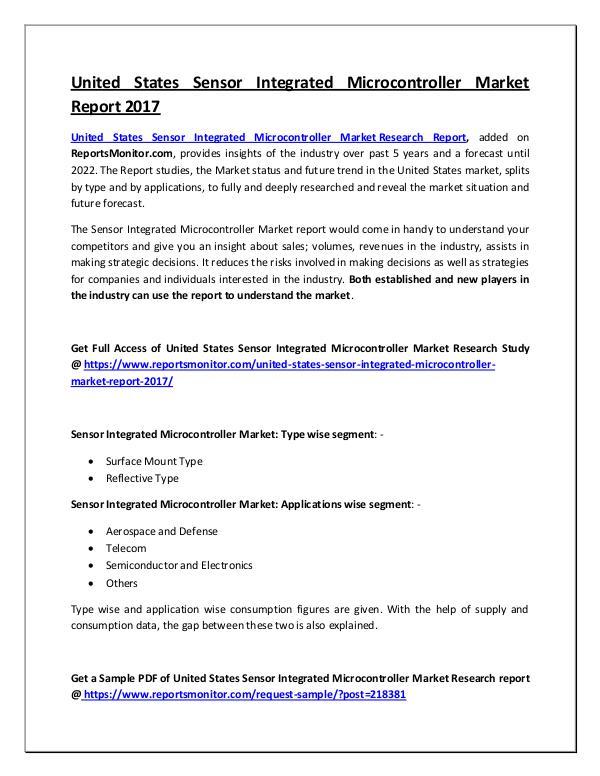 Sensor Integrated Microcontroller Market Report