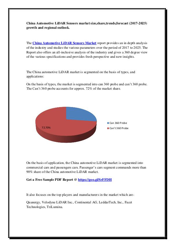 China Automotive LiDAR Sensors market
