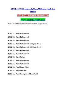 ACCT 553 STUDY Invent Yourself/acct553study.com