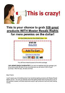 Grab 100 great products with master resale rights