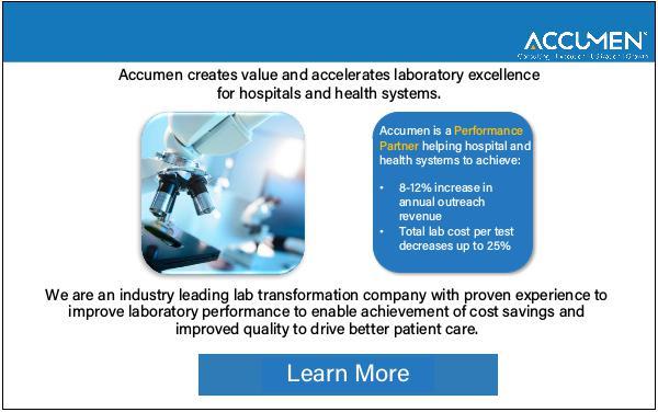 Accumen creates value and accelerates laboratory excellence Accumen creates value and accelerates laboratory e