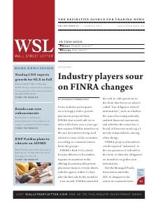 Wall Street Letter Volume XLV Issue 25