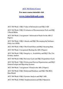 ACC 564 Experience Tradition / tutorialrank.com