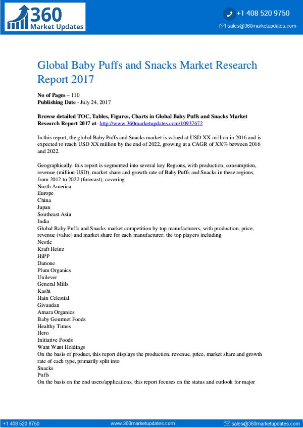 News Global-Baby-Puffs-and-Snacks-Market-Research-Repor
