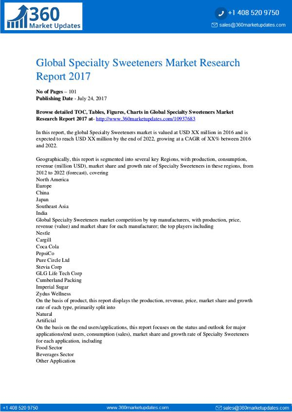 News Global-Specialty-Sweeteners-Market-Research-Report