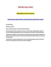PCN 605 Topic 5 DQ 2