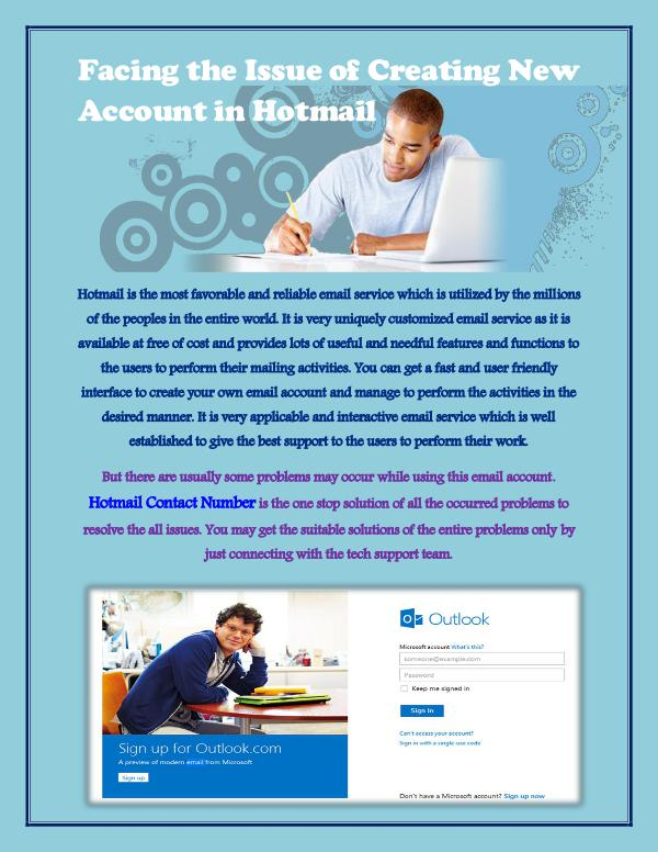 Facing the Issue of Creating New Account in Hotmail Hotmail account creation issues
