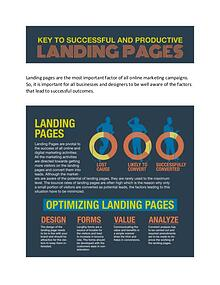 Key to successful and productive landing page